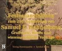 Wissenschaftliche Festveranstaltung zum 250. Geburtstag von Samuel Friedrich Hahnemann